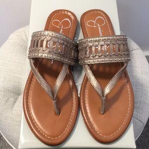 Jessica Simpson flat suede sandals. Never worn!
